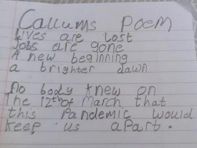Callum's Poem